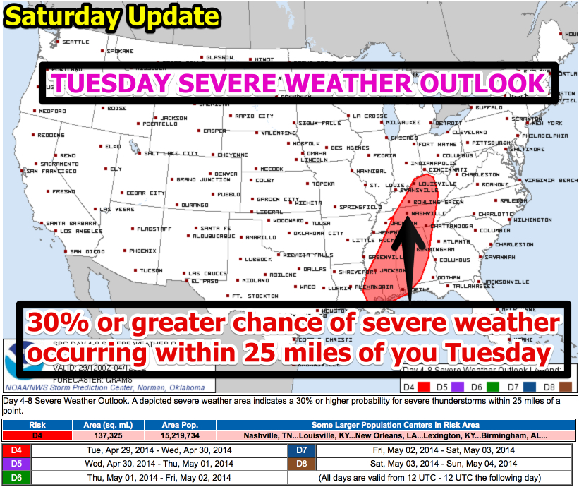 Storm Prediction Center Apr 26, 2014 Day 4-8 Convective Outlook 2014
