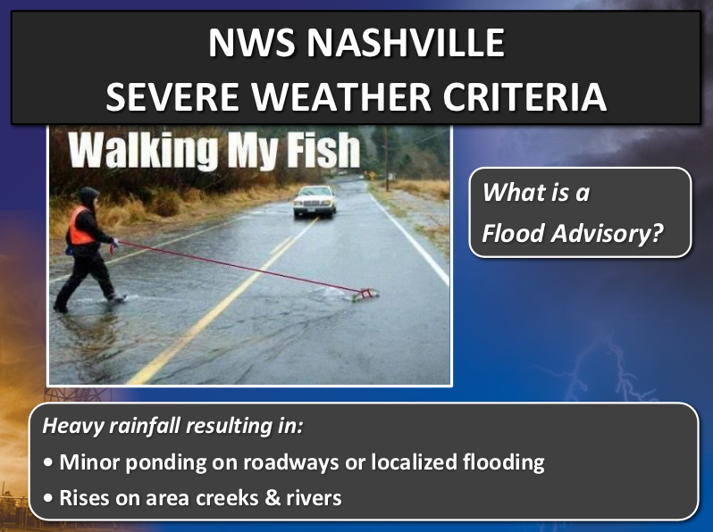 What is a Flood Advisory