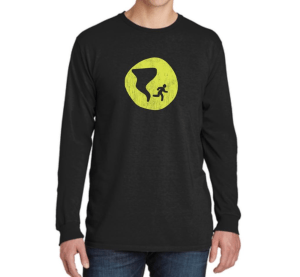 Long Sleeve Distressed Logo Shirt - Black - Nashville Severe Weather
