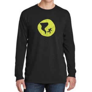 Long Sleeve Distressed Logo Shirt - Black - Nashville Severe Weather