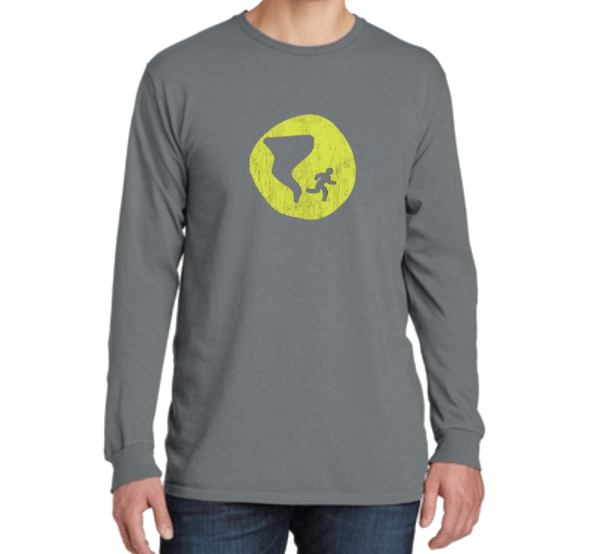 Long Sleeve Distressed Logo Shirt - Grey - Nashville Severe Weather
